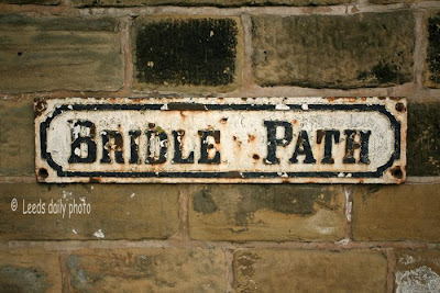 Bridle Path Leeds Sign