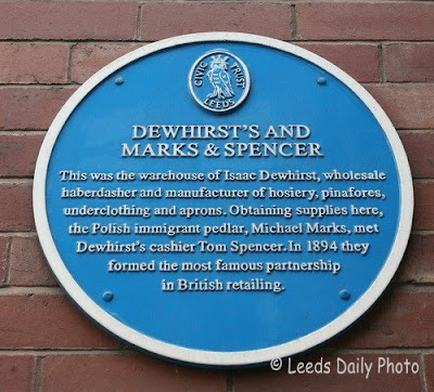 Blue Plaque Dewhirst Building Leeds