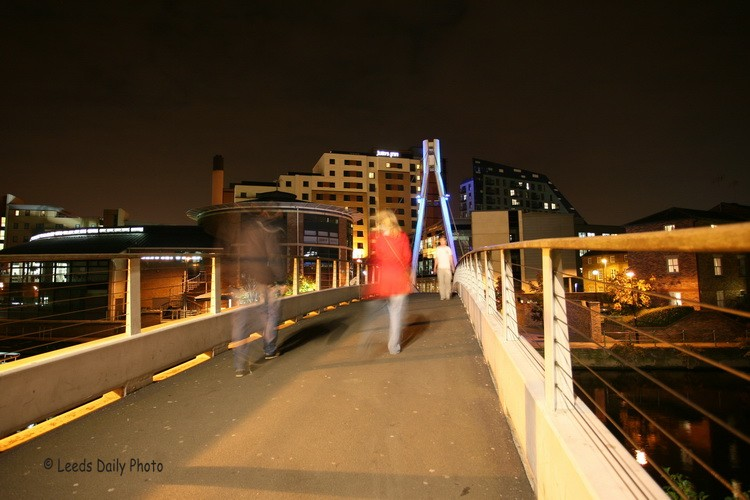 Centenary Bridge Leeds Night