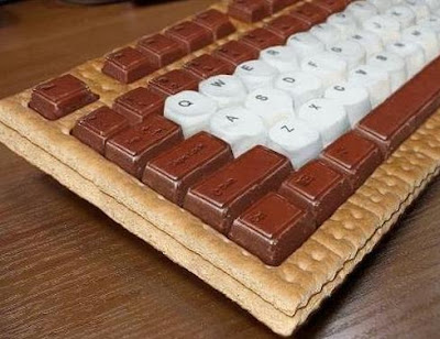 teclado pan con chocolate
