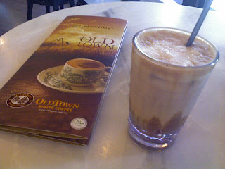 Old town white coffee, ok, ok, so this is not Starbucks but I need my coffee fix!