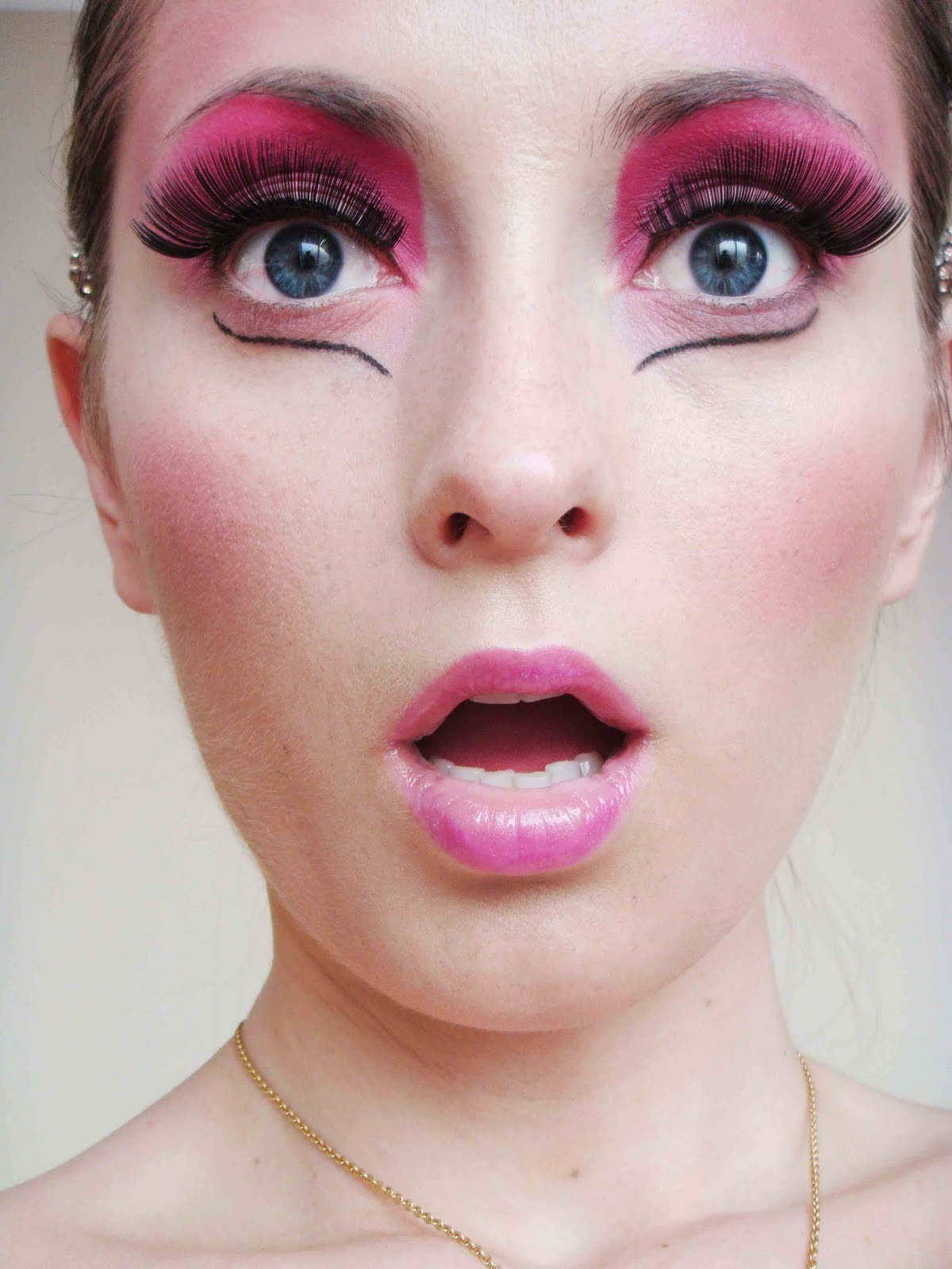 Barbie Doll Pink Red Makeup