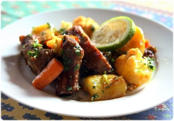 Tasca da elvira travers de porc aux l gumes la portugaise - Cuisiner travers de porc ...
