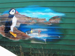 quidi vidi brewery eric red ale wall mural hand painted stu dobell new foundland canada north america