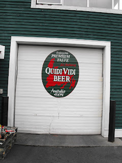 Quidi Vidi Brewery company hand painted mural New Foundland Canada North America