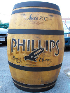 Phillips brewery antique signage barrel hand painted Dobell Signs North America