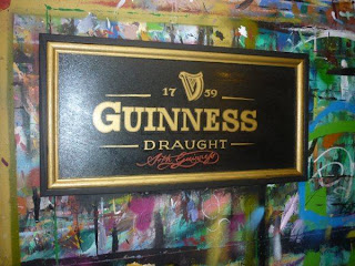 Guinness Bar Sign hand painted gold signage Victoria Vancouver Island Canada North America