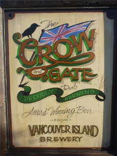Vancouver Island Brewery Pub Signs hand painted signs Scottish bag piper Victoria Canada North America traditional signage dobell designs