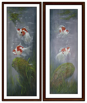 """Karya """"DEDE MAHYUDIN"""" 40x100cm,oil on canvas,signed and dated 2010."""