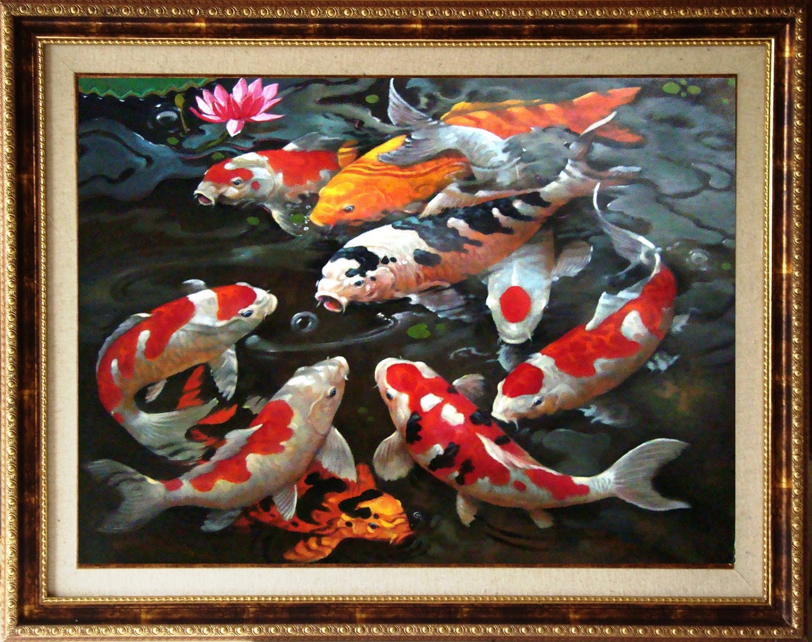 karya dede mahyudin 80x110cm include frame,oil on canvas 2010