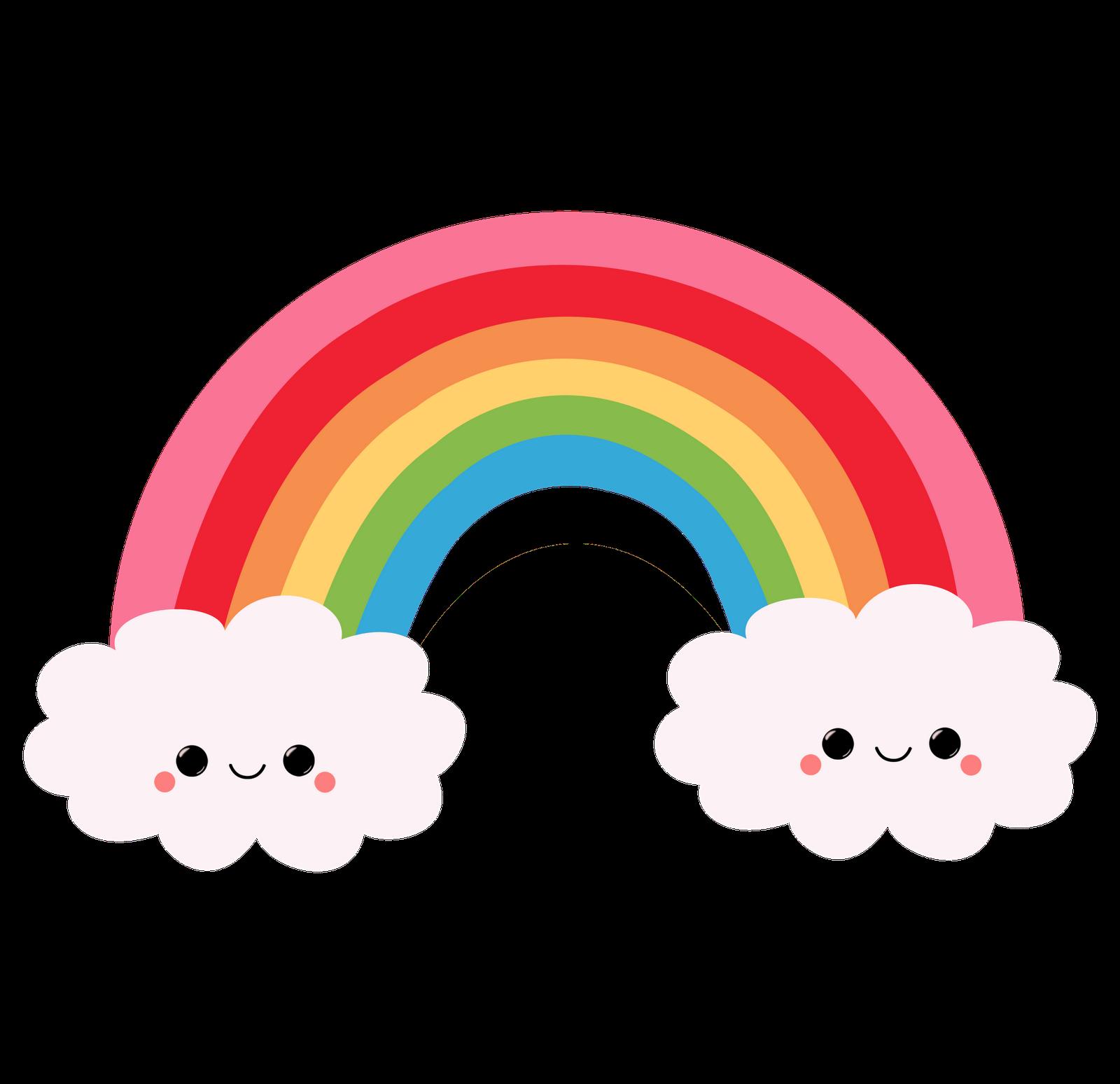 Cute rainbow cartoon