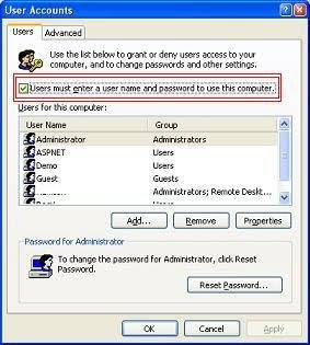 How to automatically log in to Windows XP