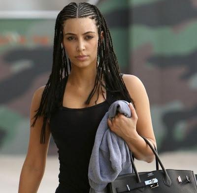 Sexy : Kim Kardashian Cornrows