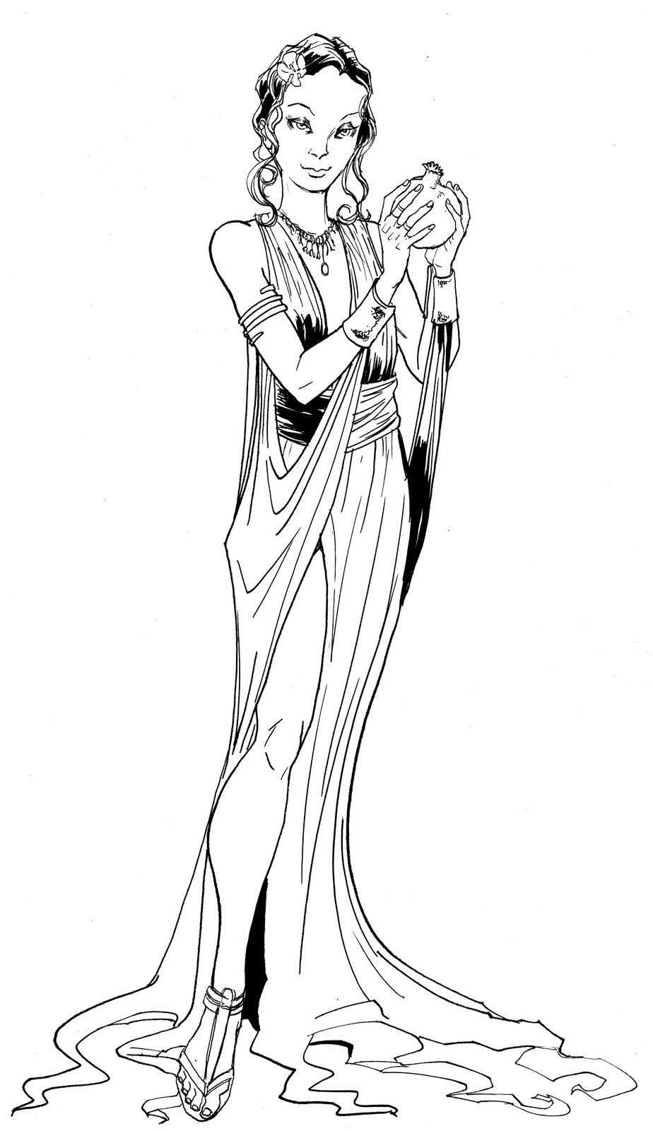 george o connor s online sketchbook persephone pin up