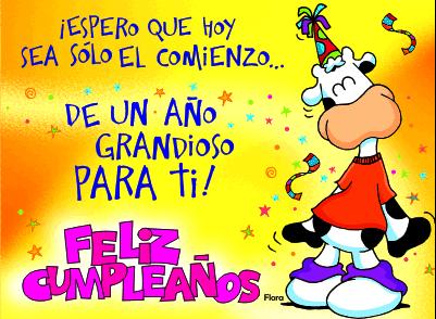 Mi tarjeta echa humo: Feliz Cumpleaños, Guada!!!