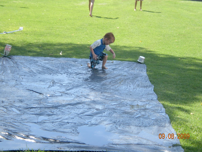 Our home made Slip n slide : )