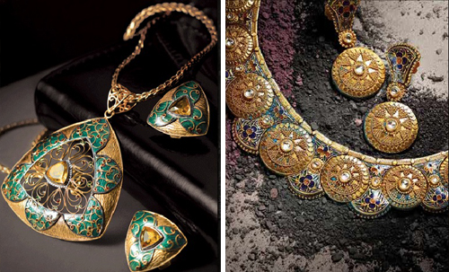 gold pendants tanishq. {Tanishq Jewels - Glam Gold}