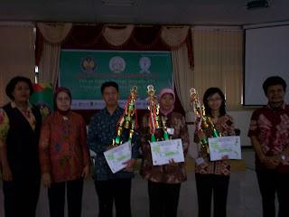 penulis mendapat juara 1 Biology Teaching Competition di Universitas Negeri Semarang