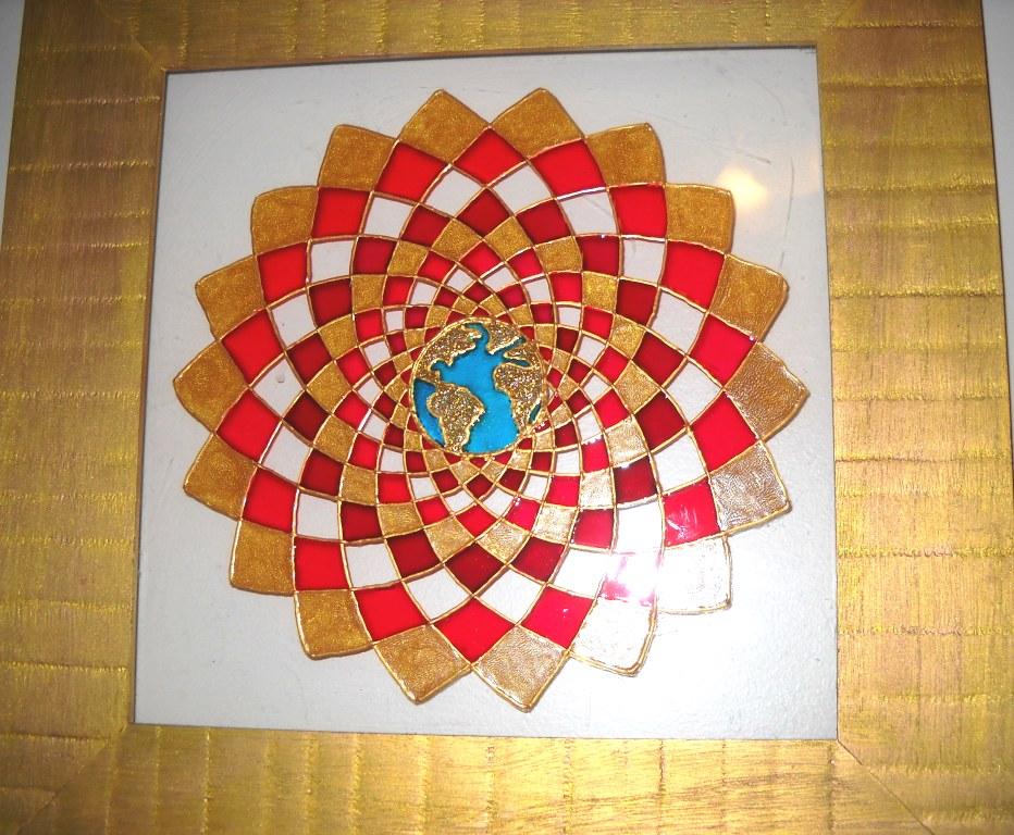 Mandalas en vidrio geometrias del alma cuadros de mandalas - Cuadros mandalas ...