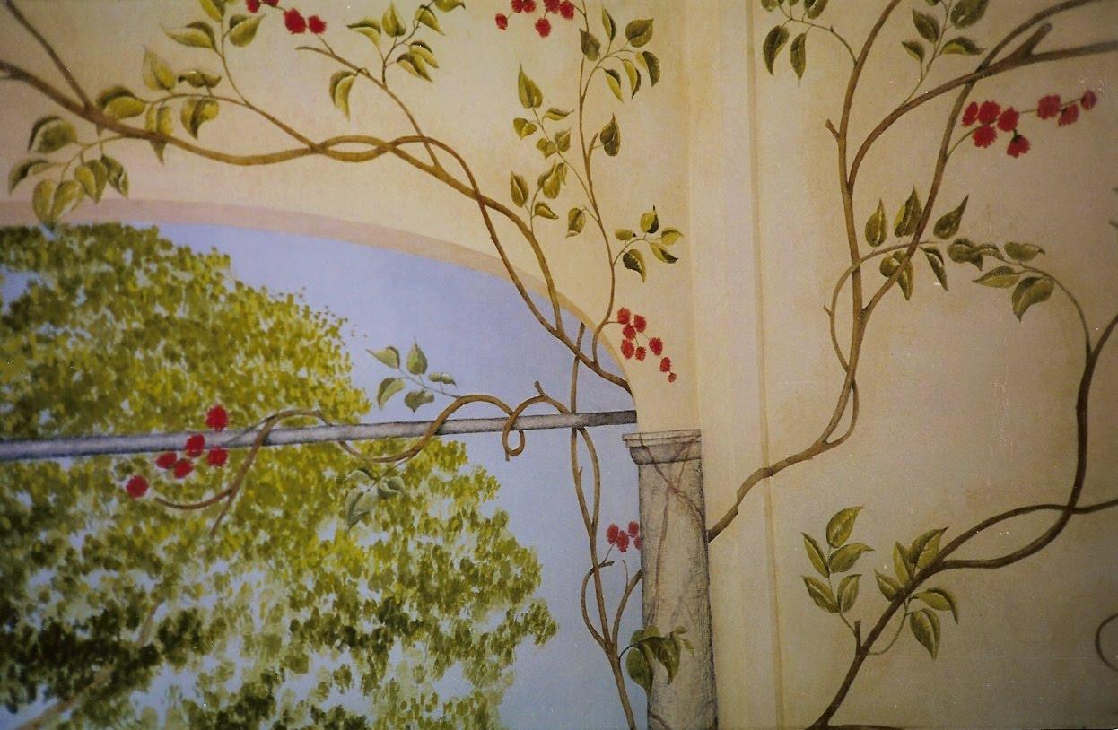 Taller de restauraci n nave jardin trampantojos - Pintura interior barata ...