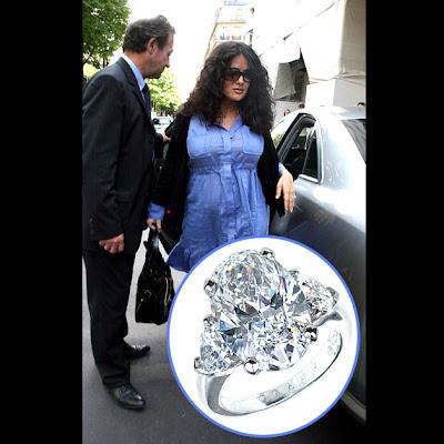 Salma Hayek diamond engagement rings