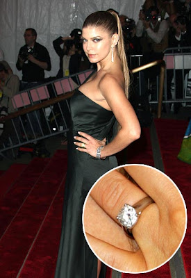 Celebrity Fergie engagement ring