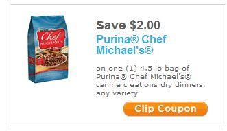 Coupons chef michael's dog food