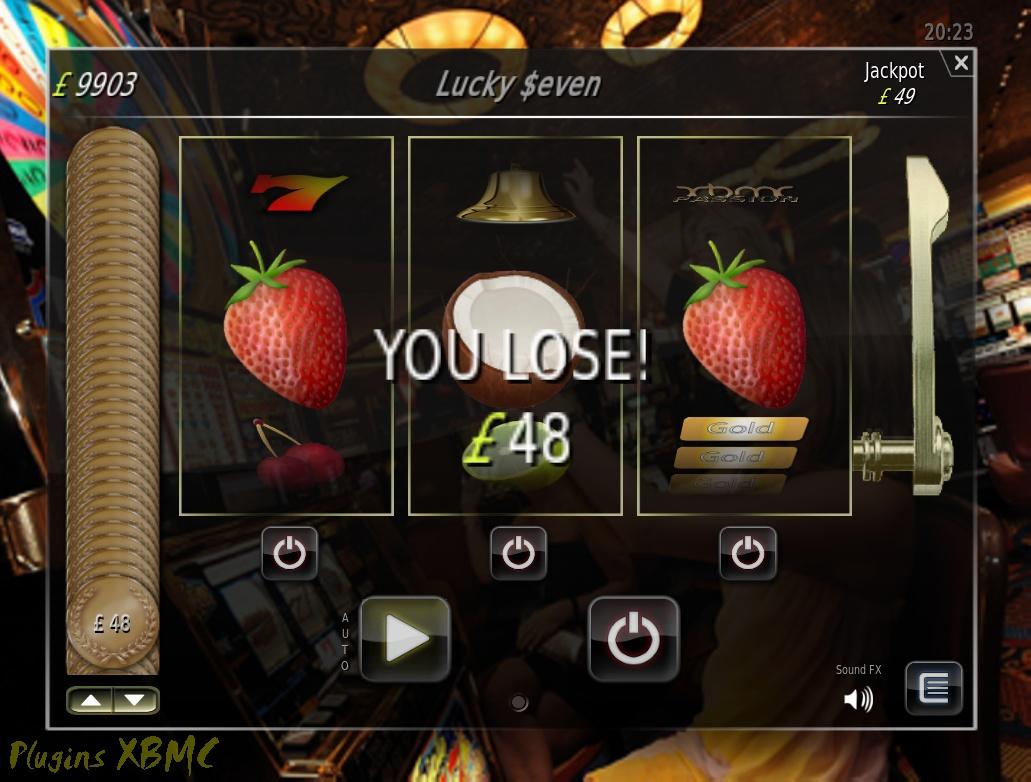 Juego Lucky 7 para XBMC