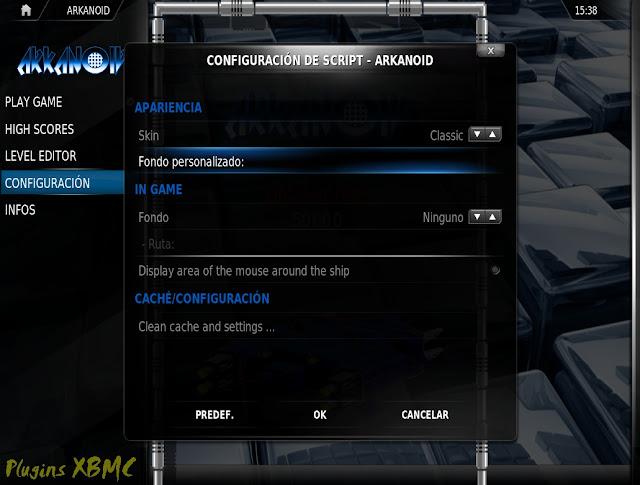 Arkanoid / Juego para XBMC