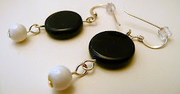 Black and White Coin Earrings