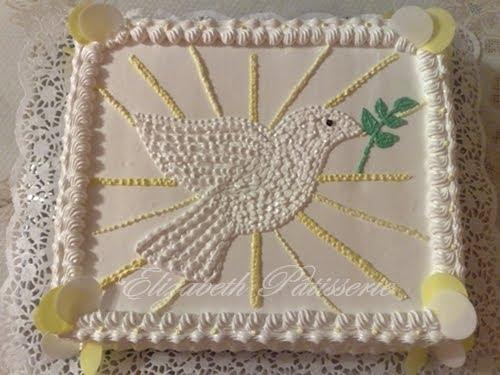 De Paloma Realizado En Merengue Deco De Hostias Blancas Y Amarillas