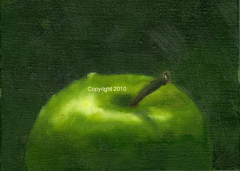 Granny Smith 6 x 8 Oil on Linen