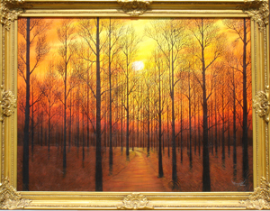 Name : Sun Set in The Forest