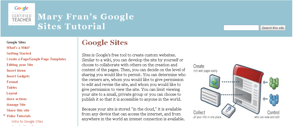 educational technology guy great tutorial on google sites