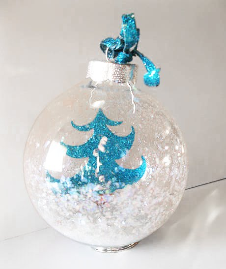 Christmas Ornament Craft Clear Balls : Artglitter november