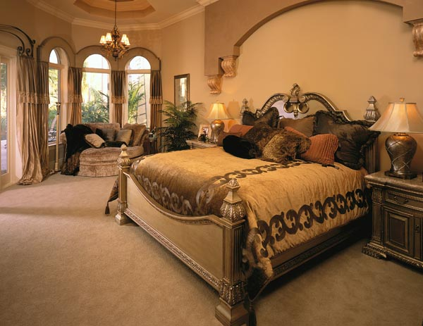 Master bedroom interior design for Elegant bedroom designs