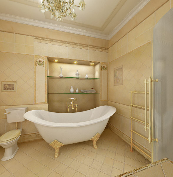 Home design classic bathroom for Classic bathroom design