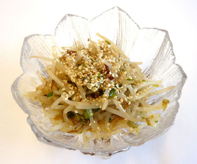 288. Korean bean sprout salad - Sukju namul - Recipe | Kits Chow