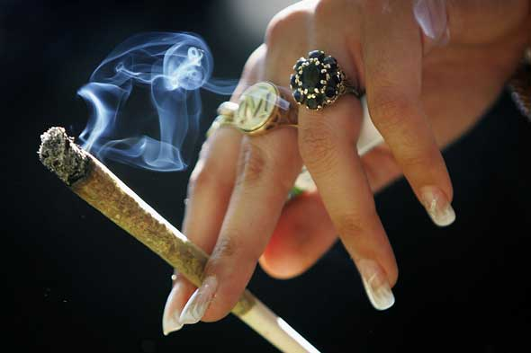 Cigarette smoking is down among teens, but pot use is up.