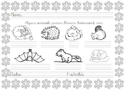 Worksheet. Mi grimorio escolar EN INVIERNO ALGUNOS ANIMALES HIBERNAN