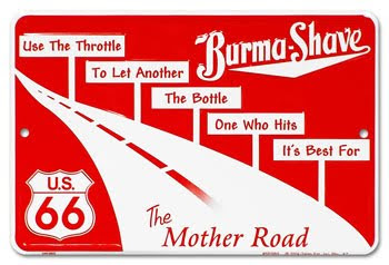 Burma Shave Roadside Rhymes Poster
