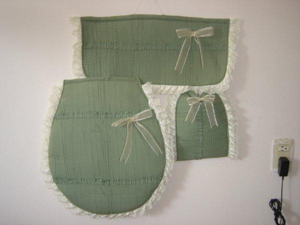 Juegos De Baño Verde:Juego De Bano a Crochet