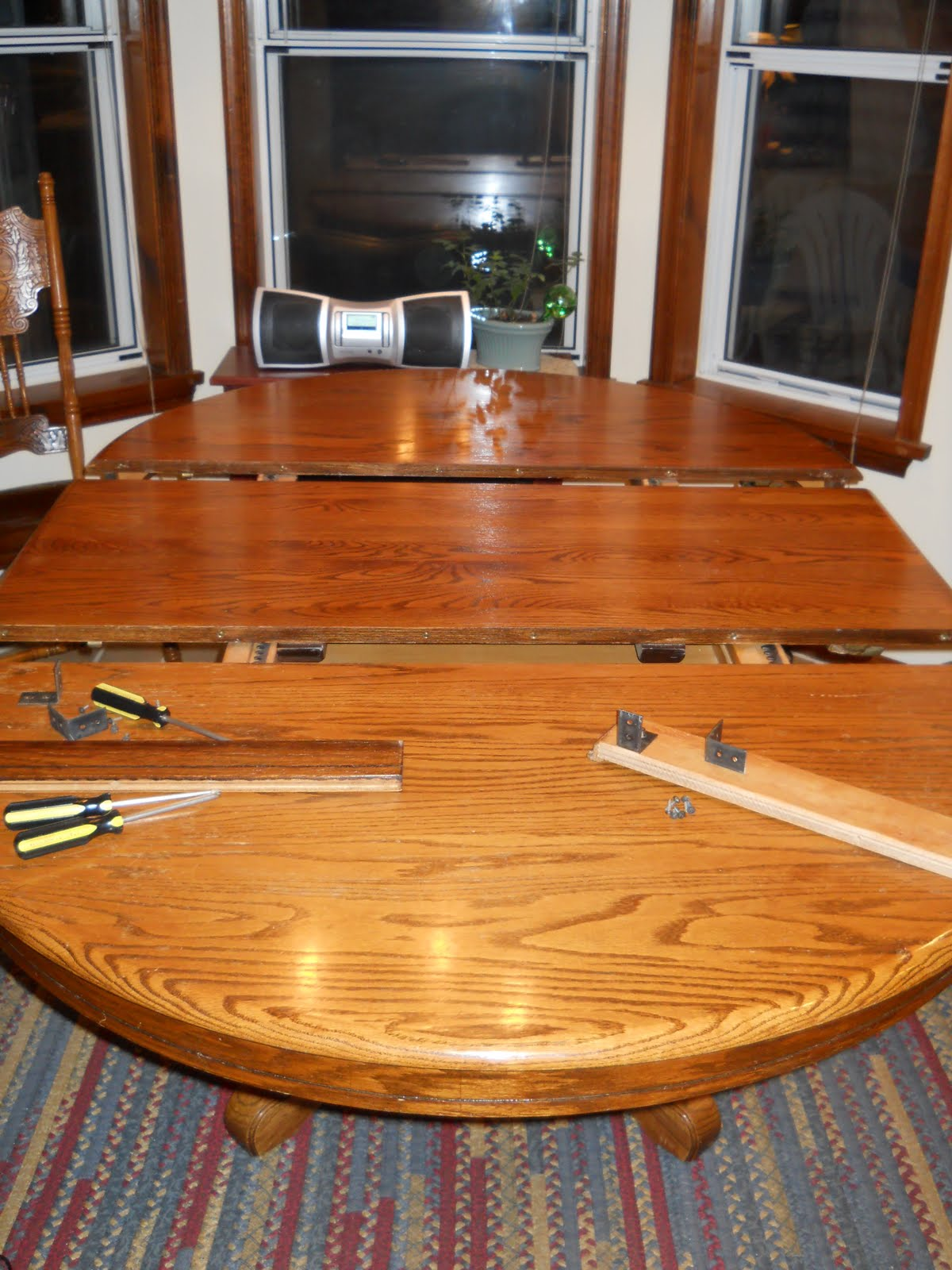 Celtic heart knitting and quilting refinishing the kitchen table before pictures - Refinishing a kitchen table ...
