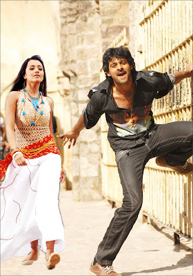 prabhas and trisha from bujjigadu movie