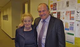 Madeline Albright & Prof. Percival