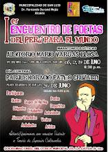 1er. ENCUENTRO DE POETAS DEL PERÚ PARA EL MUNDO