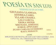 POESÍA, POETAS EN LECTURA EN LA BIBLIOTECA MUNICIPAL DE  SAN LUIS