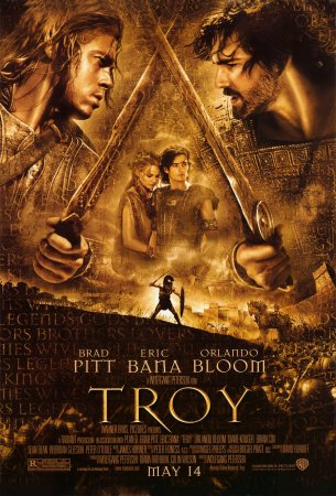 rose byrne and brad pitt in troy