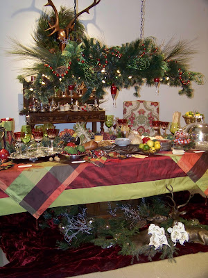 Silver Trappings: Holiday Tables - A Christmas Buffet