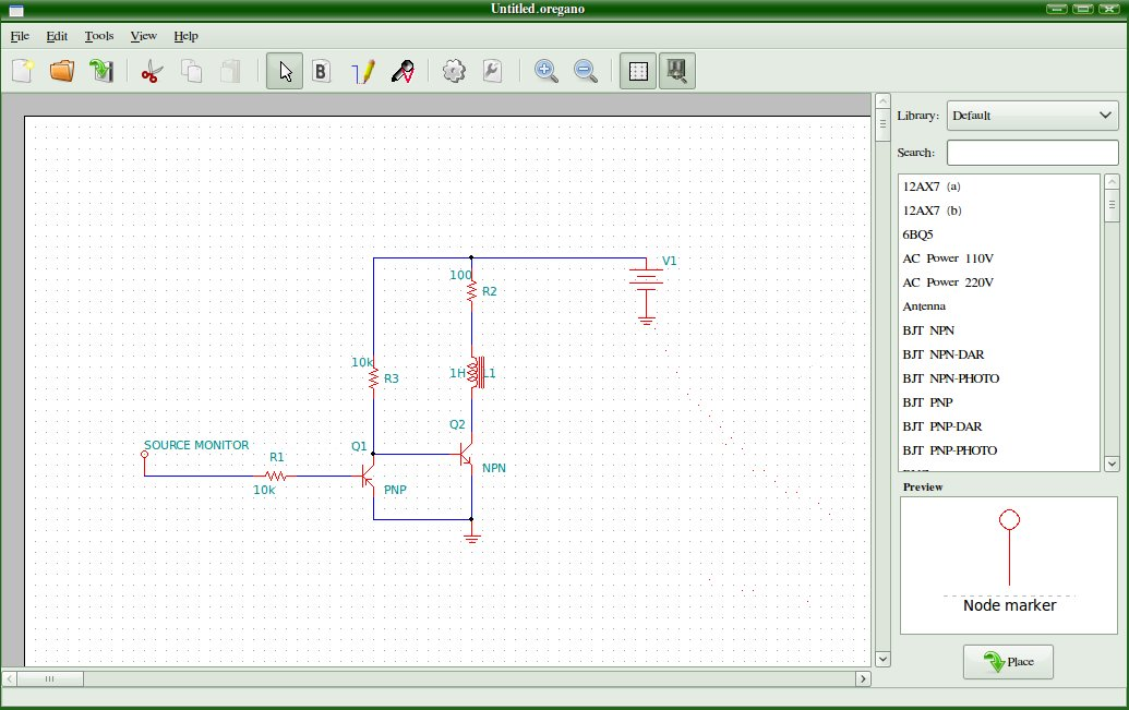 ... : Oregano - Electronics Schematic Drawing And Simulation Software